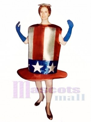 Netter Stern-Spangled Hut Maskottchen Kostüm