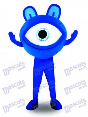 Blaue Augen Gläser Anblick Schutz Anzeigen Maskottchen Kostüm Förderung