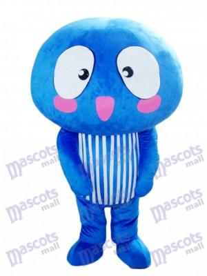 Blaues Pilzgemüse Maskottchen Kostüm Essen Pflanze