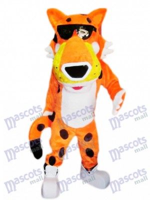 Orange Chester Gepard Maskottchen Kostüm Tier