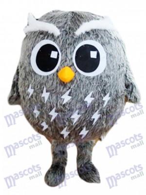 Graues Eulen Maskottchen Kostüm Vogel Tier