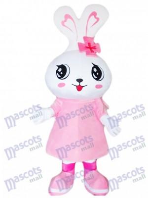 Großer Kopf rosa Kaninchen Osterhase Maskottchen Kostüm Tier