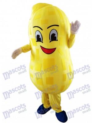 Gelbes Erdnuss Maskottchen Kostüm Nahrungsmittel pflanze