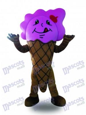 Lila Eistüte Maskottchen Kostüm Dessert