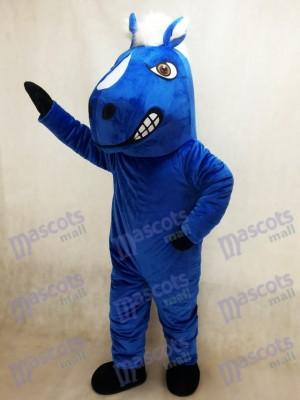 Königsblaues Mustang Pferdemaskottchen Kostüm