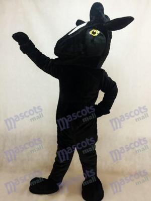 Schwarz Mustang Pferd Maskottchen Kostüm Tier