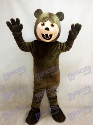 Dunkelbraunes Grizzlybär Maskottchen Kostüm