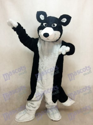 Schwarz-Weiß Border Collie Husky Hund Maskottchen Kostüm Tier