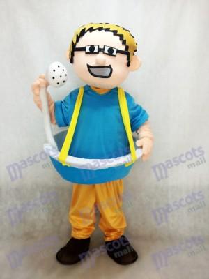 Blaue Badewanne Mann plus Duschkopf Maskottchen Kostüm