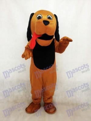 Neues rotes Zungenhund Maskottchen Kostüm