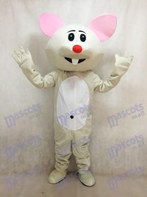 Graue Maus mit roter Nase Maskottchen Kostüm Tier
