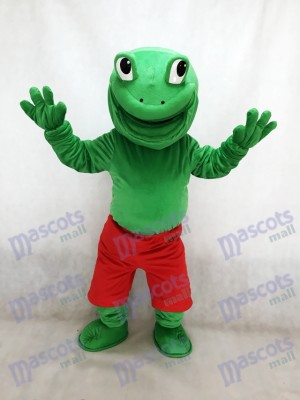 Neuer grüner Frosch mit roten Shorts Maskottchen Kostüm Tier