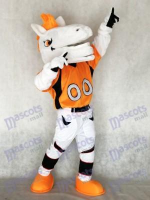 Neue Mustang Pferderennen mit Orange Mähnen Maskottchen Kostüm Tier