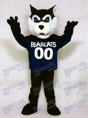 Nettes dunkelblaues Bearcat Maskottchen Kostüm