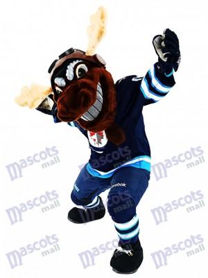 Mick E. Elch der Winnipeg Jets Manitoba Elch Maskottchen Kostüm Tier