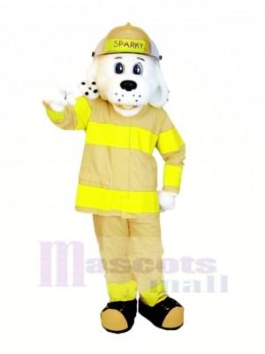 Sparky das Feuer Hund mit Khaki Bräunen Passen NFPA Maskottchen Kostüm