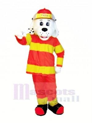 Sparky das Feuer Hund mit Orange und Gelb Passen NFPA Maskottchen Kostüm