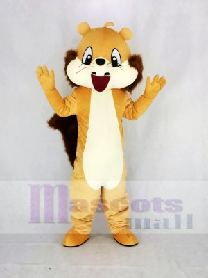 Süß Braun Eichhörnchen Maskottchen Kostüm Karikatur