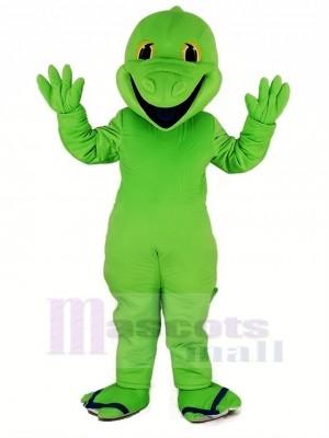 Grün Eidechse Maskottchen Kostüm Karikatur