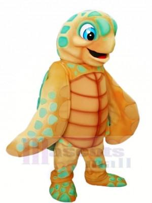 Licht Braun Meer Schildkröte Maskottchen Kostüm Karikatur