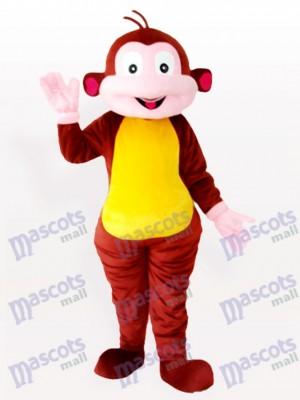 Karikatur Affe braun Tier Maskottchen Kostüm