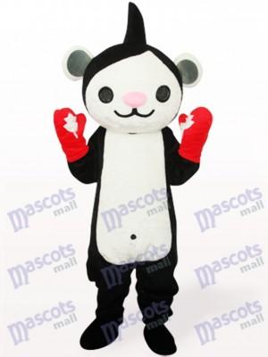 Schwarzen Miga Anime Maskottchen Kostüm für Erwachsene