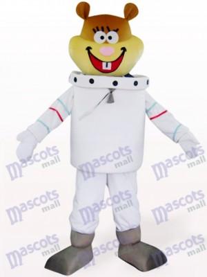 Weiß Platz Navigation Maus Tier Maskottchen Kostüm