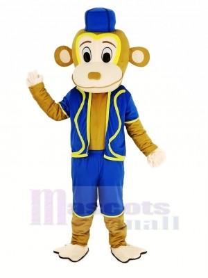 Clown Affe im Blau Weste Maskottchen Kostüm Tier