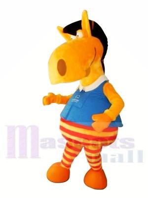 Süß Orange Pferd Maskottchen Kostüme Tier