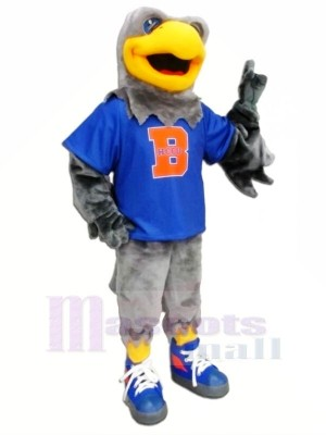 Falke mit Blau T-Shirt Maskottchen Kostüme Tier