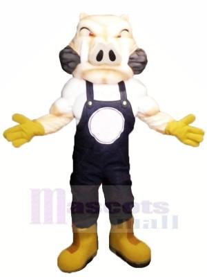 Heftig Schwein mit Gelb Handschuhe Maskottchen Kostüme Erwachsene