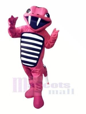 rot Klapperschlange Leicht Maskottchen Kostüme Karikatur