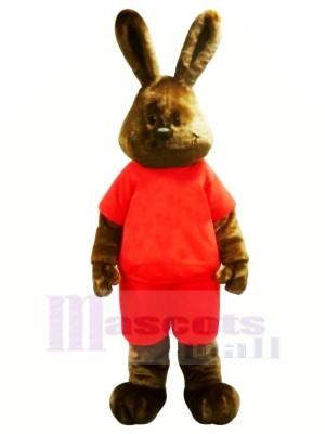 glücklich Braun Hase Maskottchen Kostüme Erwachsene