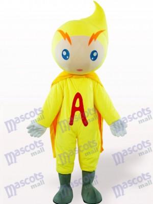 Gelbes Volt-Ampere Karikatur erwachsenes Maskottchen Kostüm