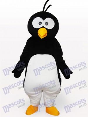 Schwarzer Pinguin Kurzes Plüsch Maskottchen Kostüm