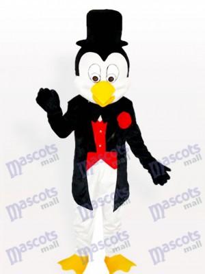Mr. Penguin in Tuxedo und Bowler Hat Maskottchen Kostüm für Erwachsene