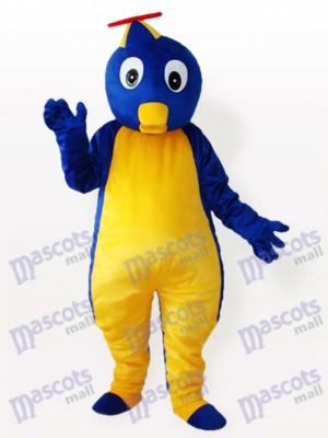 Blauer Pinguin im fliegenden Hut Adult Maskottchen Kostüm