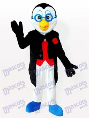 Doktor Pinguin im Smoking Maskottchen Kostüm