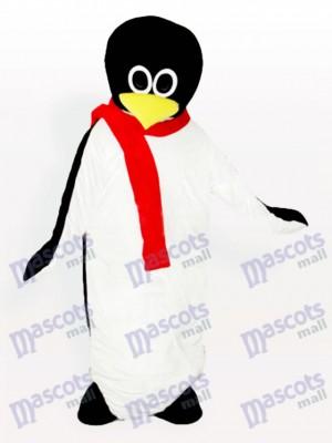 Baby Pinguin mit rotem Schal Maskottchen Kostüm
