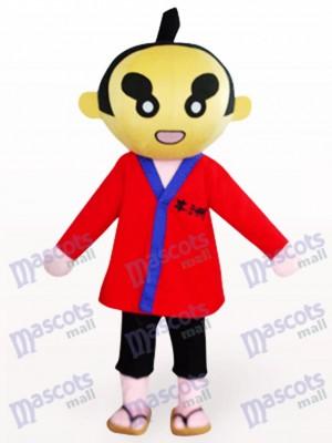 Sumoto Menschen in roter Kleidung Cartoon Maskottchen Kostüm