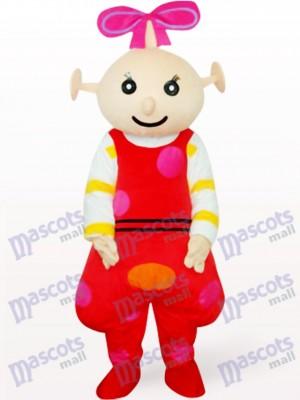 Rote weibliche Beibei Anime Maskottchen Kostüm