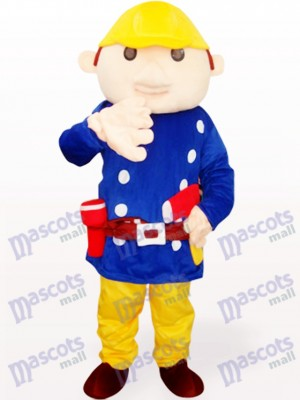 Blaues Baboo Ingenieur Maskottchen Kostüm