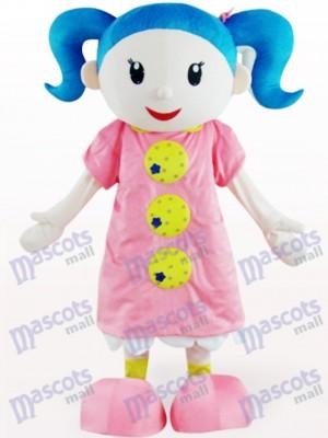 Nettes Mädchen Cartoon Adult Maskottchen Kostüm