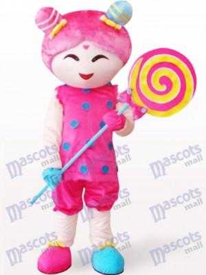 Süßigkeits Mädchen Karikatur erwachsenes Maskottchen Kostüm