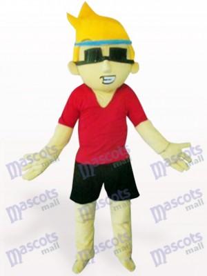 Sonnenbrille Jungen Karikatur erwachsenes Maskottchen Kostüm