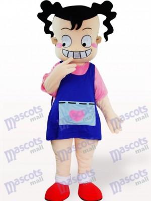 Hässliches Mädchen Cartoon Adult Maskottchen Kostüm