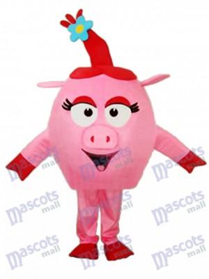 Red Round Pig Maskottchen Adult Kostüm Tier