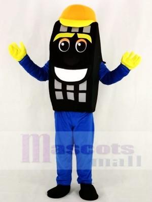 Blau Auto Reifen Taxi Reifen Maskottchen Kostüm Karikatur