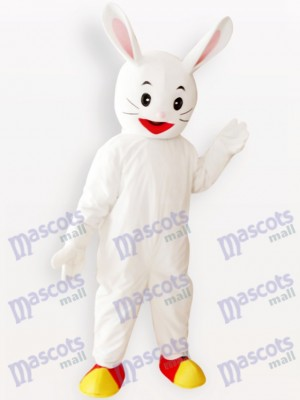 Weißes Osterhasen Kaninchen Tier erwachsenes Maskottchen Kostüm