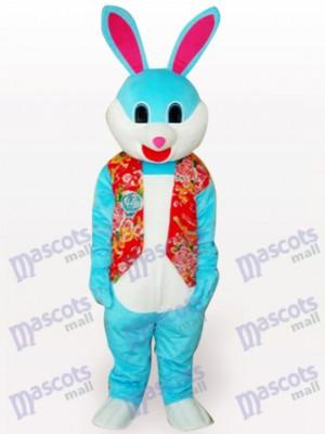 Bunten Bunny Rabbit Short Plüsch Maskottchen Kostüm für Erwachsene